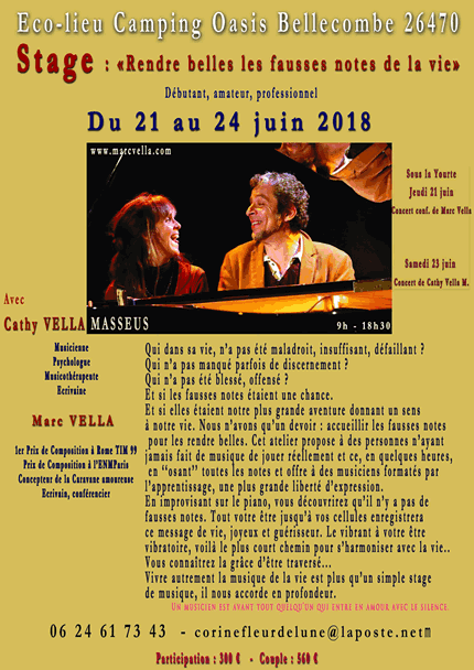 Stage Marc & Cathy Vella 2018