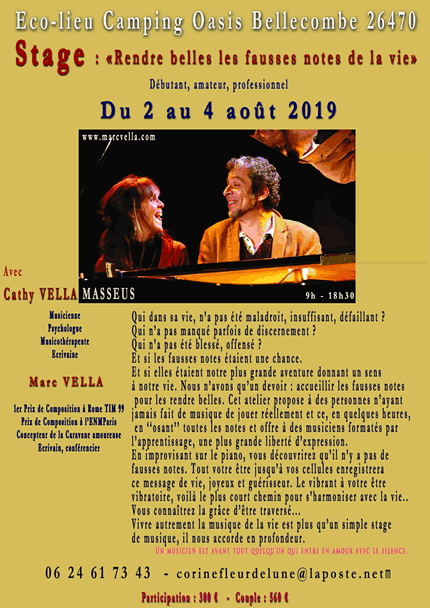 Stage Marc et Cathy Vella 2019